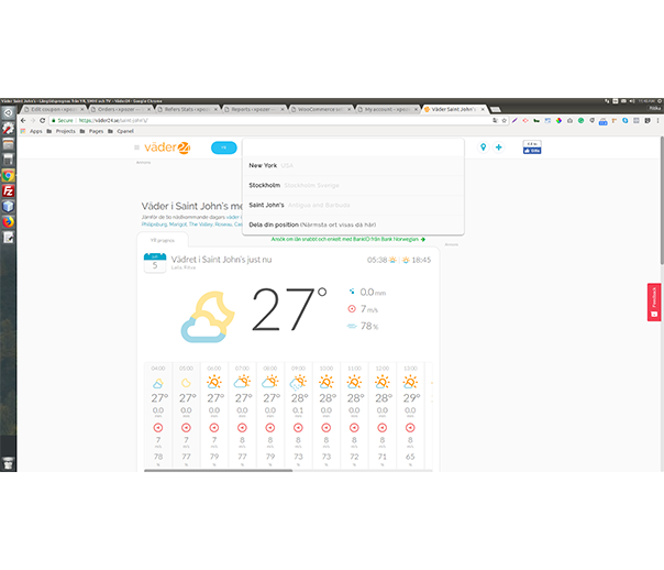 Manage Cities to Show Weather on Vader24